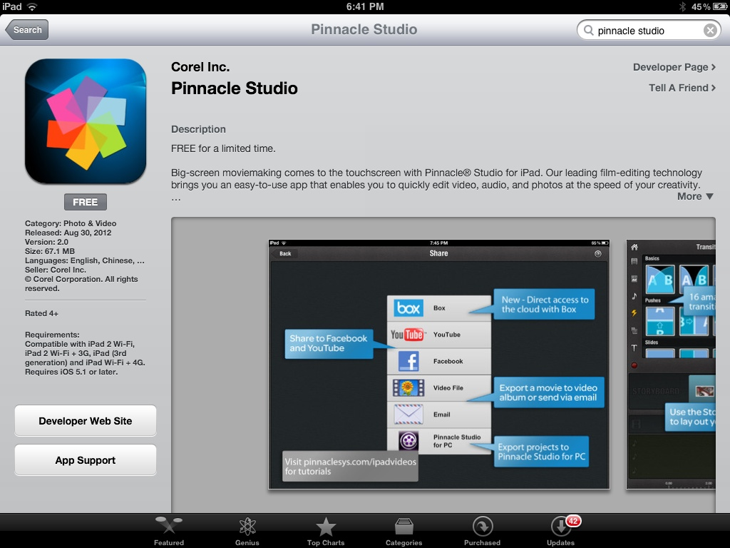pinnacle studio pro free download ios