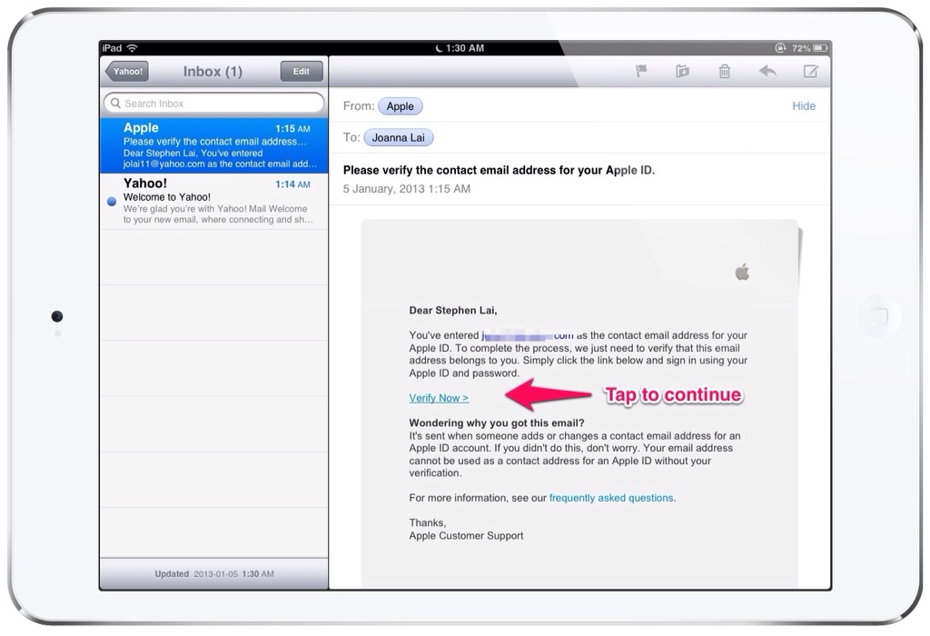 how to add a second email address to my iphone