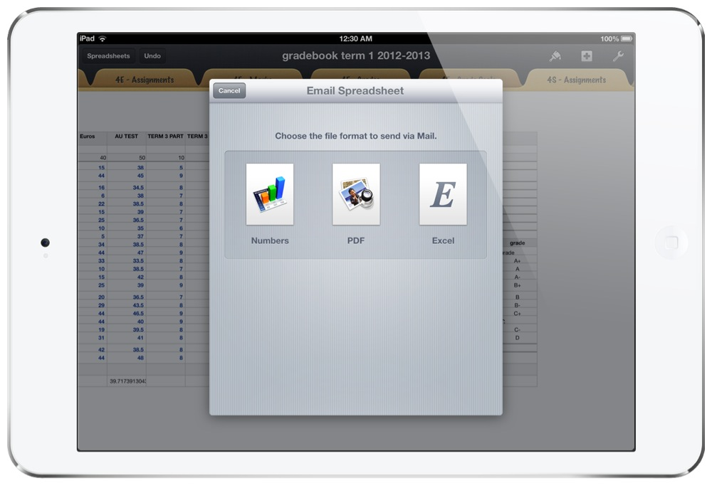 Report Card Writing Using Numbers On iOS: Effortless syncing using ...