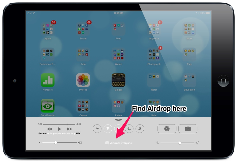 How to use AirDrop - iOS 7's most important new feature for teachers (2/3)
