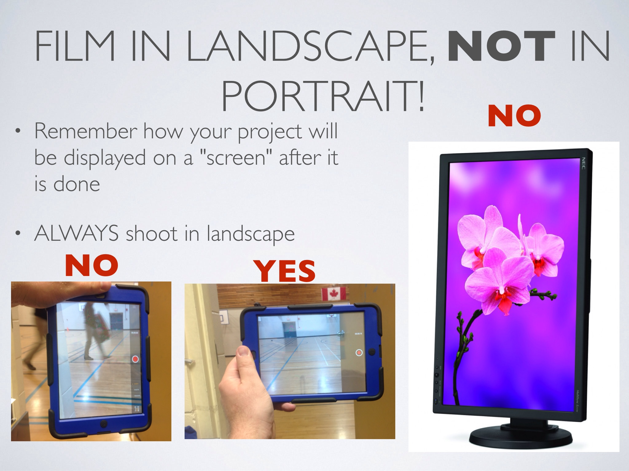 Filming Tip Film In Landscape Not Portrait Teachingwithipad Org