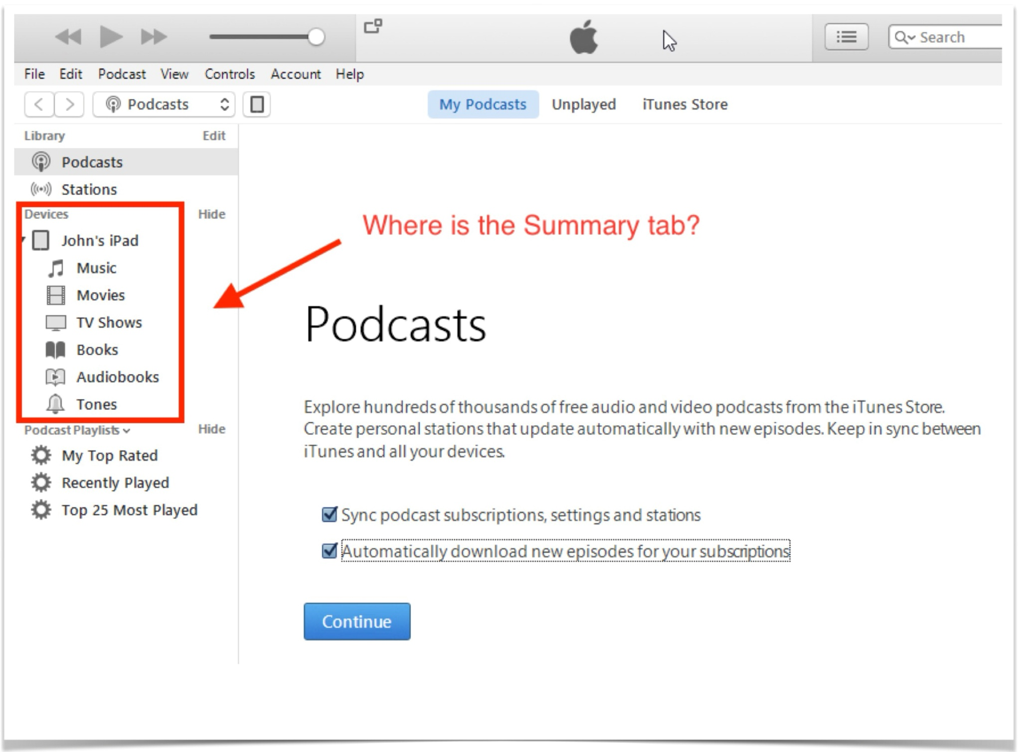 Itunes podcast not updating automatically
