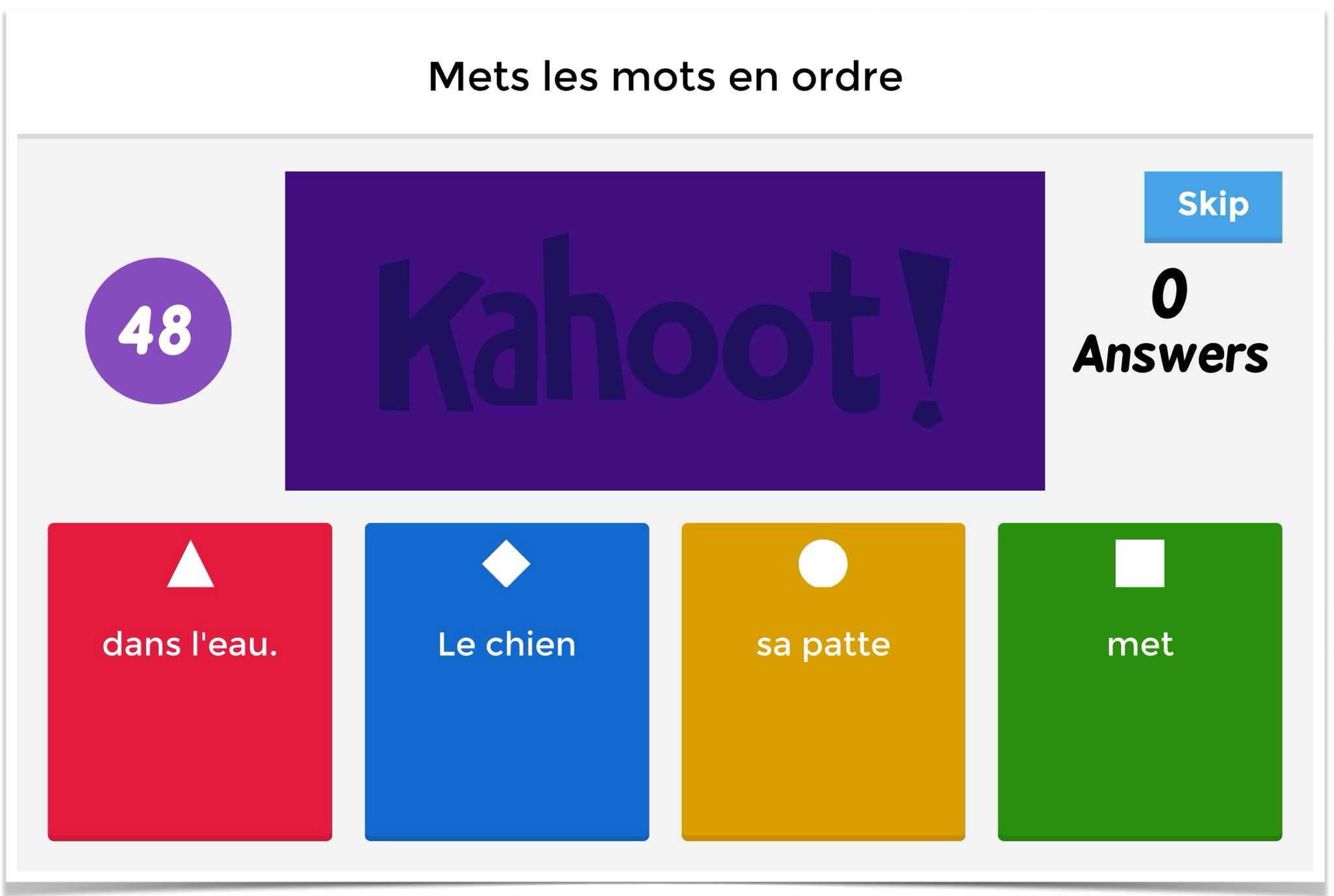 Image of: Stop Laughing My Students Love Playing Kahoot But Make Sure Not To Play It Too Often As It Needs To Remain Exciting However Having The New Jumble Feature Definitely Teachingwithipadorg Creative Ways To Use The New Jumble Feature On Kahoot